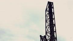 Vertical Steel Draw Bridge Stock Footage