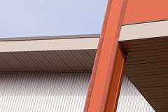 Architectural detail on a building exterior Stock Photos