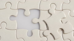 Final puzzle Stock Footage