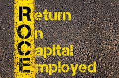 Accounting Business Acronym ROCE Return On Capital Employed Stock Photos