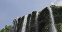 Waterfall top Stock Footage