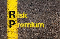 Accounting Business Acronym RP Risk Premium Stock Photos