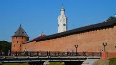 Veliky Novogrod Kremlin in Russia Stock Footage
