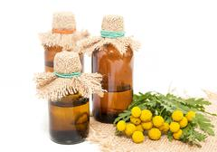 Medical infusion of tansy - stock photo