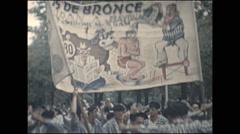 Vintage 16mm film, 1960, France, Bayonne festival #1 Stock Footage