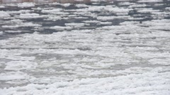 ice floe in cold winter - stock footage