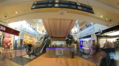 Shopping centre inside interior on Zemlyanoy Val street, Sadovoye ring in Moscow Stock Footage