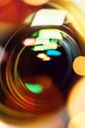 Photographic camera lens close up Stock Photos