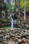 Podgorna Waterfall in Przesieka - stock photo