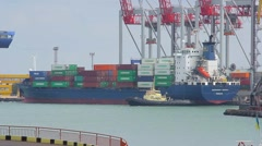 Sea trading port activity - stock footage