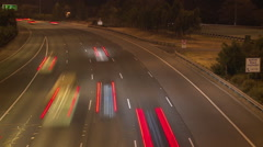 Freeway Highway Motorway at Night (Timelapse) Stock Footage