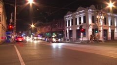City Nightlife with Taxi's (Timelapse) Stock Footage