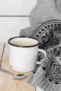 My favorite coffee with cream Stock Photos