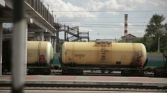 Passing freight train. - stock footage