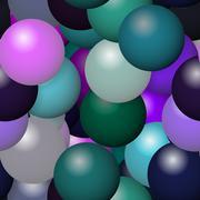 Seamless bubbles pattern - stock illustration