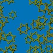 Stock Illustration of Seamless blue wallpaper with gold six-pointed stars