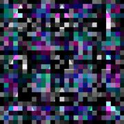 Abstract geometric pixelated background with blending triangles Piirros