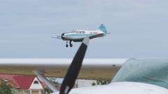 Yakovlev Yak-18T landing Stock Footage