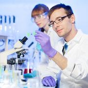 Health care professionals in lab. Stock Photos