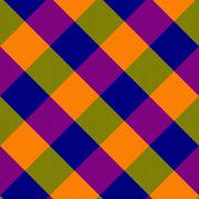 Shining purple blue yellow green oblique checkerboard - stock illustration