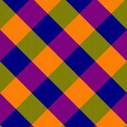Shining purple blue yellow green oblique checkerboard Stock Illustration