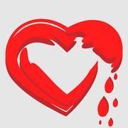 heart drops - stock illustration