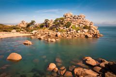 Stock Photo of Atlantic ocean coast in Brittany