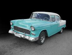 Stock Photo of classic car in Cuba