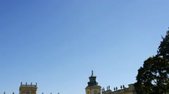 Wilanow Palace, Warsaw, Poland Stock Footage