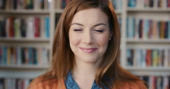Portrait of Beautiful woman laughing Stock Footage