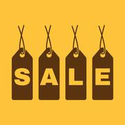 Stock Illustration of The label with an inscription sale icon. Discount symbol. Flat