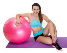 Fitness female Relaxing Stock Photos