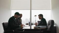 Business Meeting People Signing Contract And Shaking Hands Stock Footage