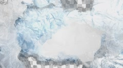 Animated freezing screen for Ice, falling snowflakes on white background - stock footage