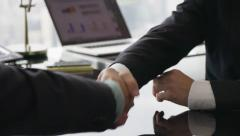 14 Business Meeting People Signing Contract And Shaking Hands - stock footage