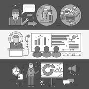 Concept of Master Class Seminar Presentation - stock illustration