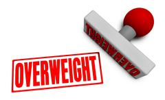 Overweight Stamp Stock Illustration