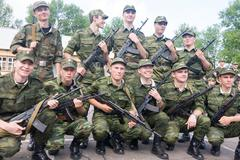 Russian army scene Stock Photos
