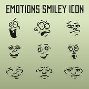 Different Emotions for comics on the old background - stock illustration
