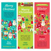 Stock Illustration of Winter Christmas Holiday Vector Invitation Template Flyer Set