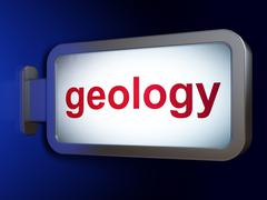 Stock Illustration of Education concept: Geology on billboard background
