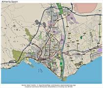 Almeria Spain state location map - stock illustration