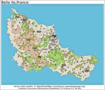Belle Ile France island state location map - stock illustration