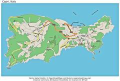 Capri Italy island state location map Stock Illustration