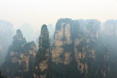 Zhangjiajie national park ( tian zhi shan ) ( Tianzi Mountain Nature Reserve - stock photo