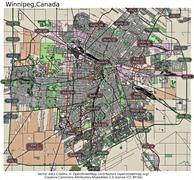 Winnipeg Canada state location map Stock Illustration