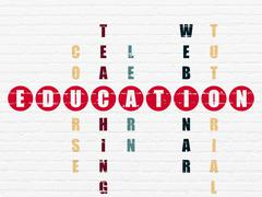 Stock Illustration of Studying concept: Education in Crossword Puzzle