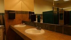 POV of men's public bathroom Stock Footage