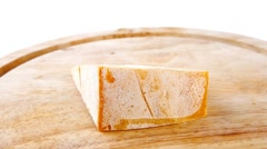 Light edam cheese Stock Footage