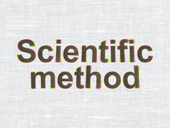 Science concept: Scientific Method on fabric texture background Stock Illustration